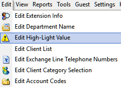 Edit High-light Values